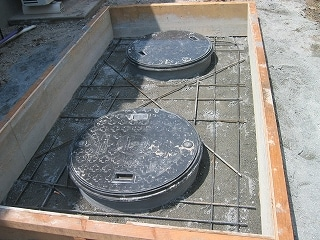浄化槽の配筋工事