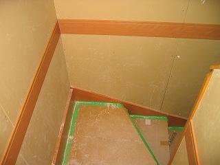 階段工事の進捗状況