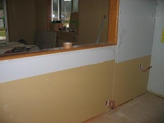 システムキッチン部の造作工事