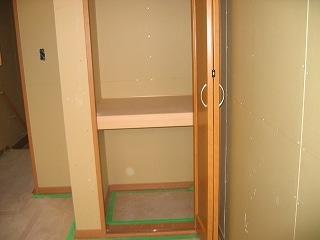 クローゼットの2枚扉