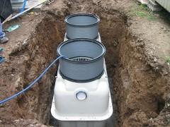 浄化槽設置と水入れ